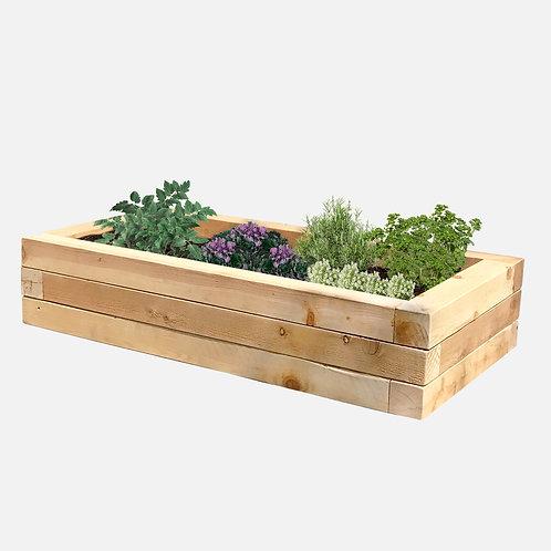 """Planter Box: 51"""" W x  27"""" D x 10"""" H"""