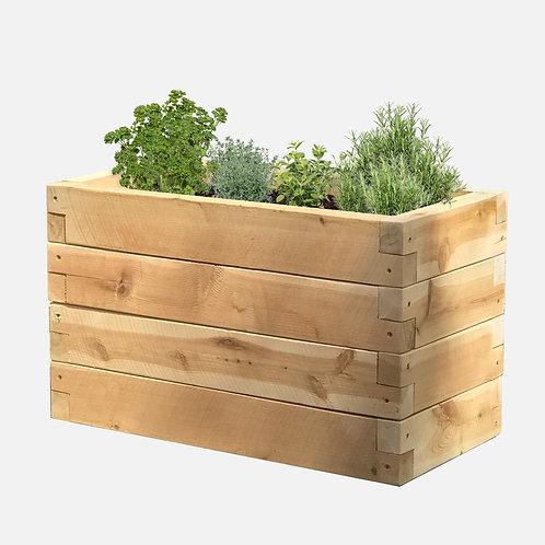 """Planter Box: 24"""" W x  12"""" D x 14"""" H"""