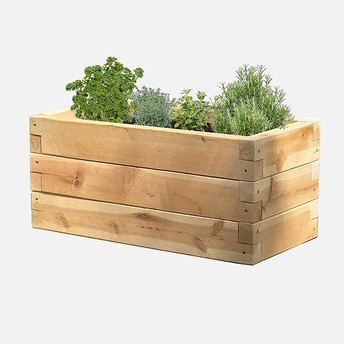 """Planter Box: 24"""" W x 12"""" D x 10.5"""" H"""