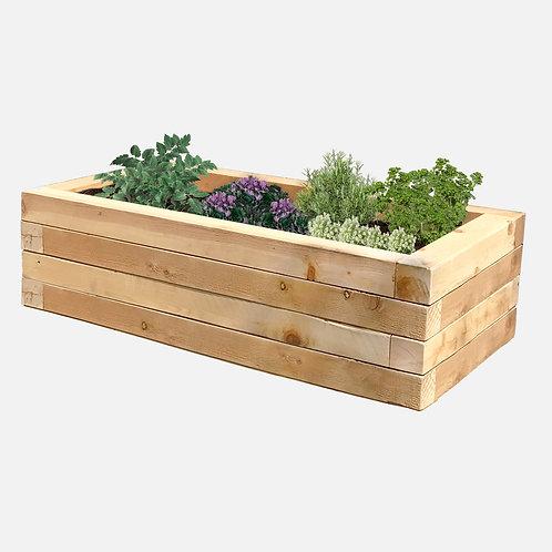 """Planter Box: 51"""" W x  27"""" D x 14"""" H"""