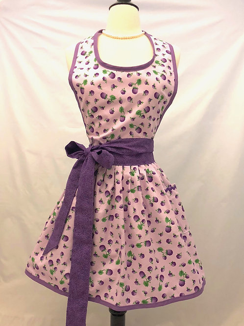 Lavender Berries Retro Apron