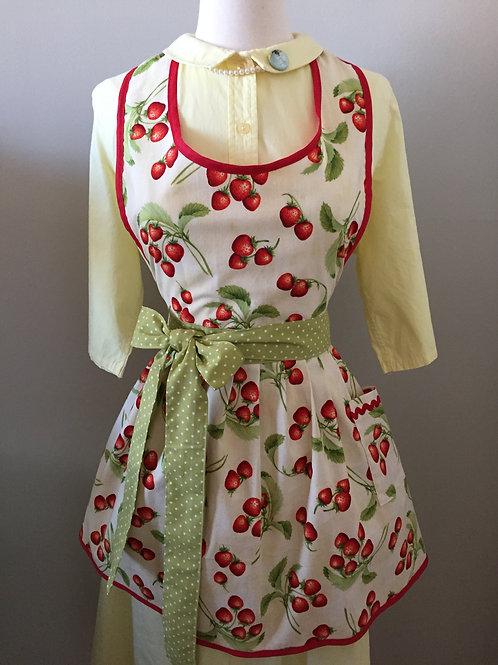 Strawberry Fields (cream) Apron