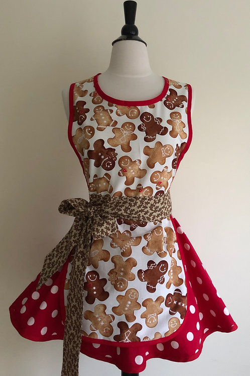 Gingerbread Circle Skirt Retro Apron