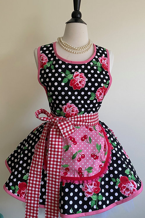 Dottie Rose Circle Skirt Retro Apron