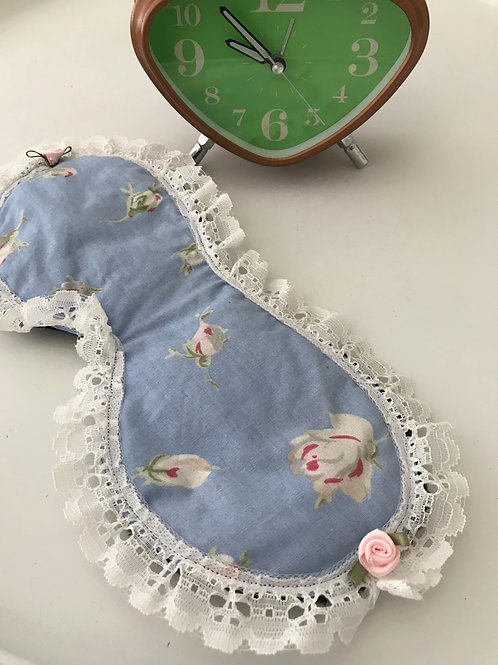 Sleep Mask Vintage Roses on Blue