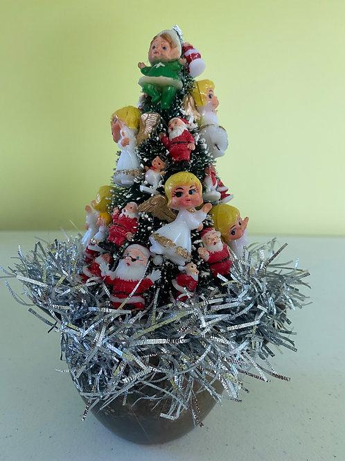 Vintage Silver Coffee Creamer Angels Christmas Centerpiece #2