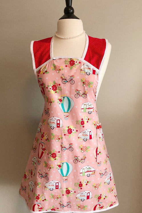 A-Line Let's Get Away Retro Campers Apron