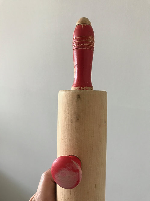 Red Knobs #5 Vintage Rolling Pin Hanger