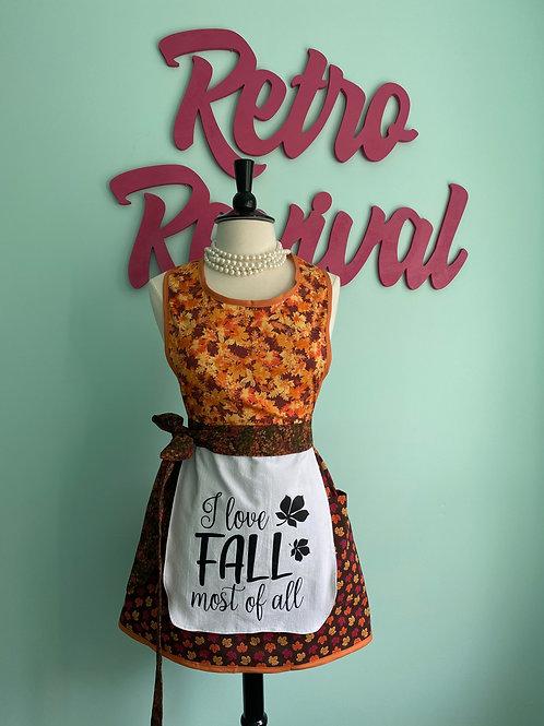 I Love Fall Retro Apron