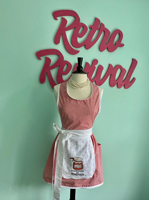 """Homemade Happiness"" Retro Apron"