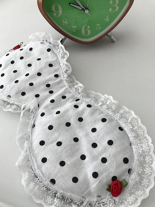 Sleep Mask Black Dots on White
