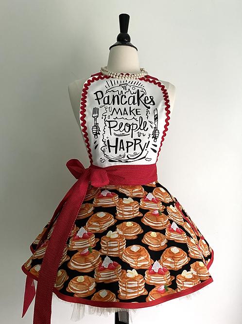 Happy Pancakes Retro Circle Skirt Apron