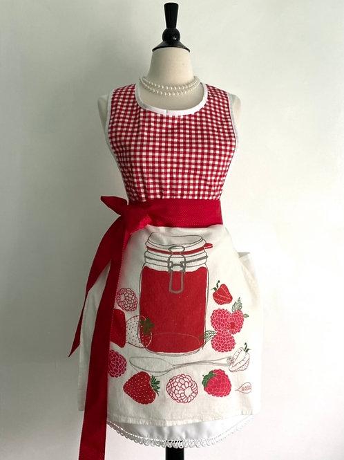 Berry Jam Tea Towel Retro Apron