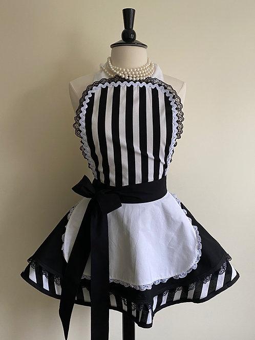 French Maid Triple Circle Skirt Retro Apron
