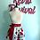 Thumbnail: Vintage Red Roses Waist/Half Apron