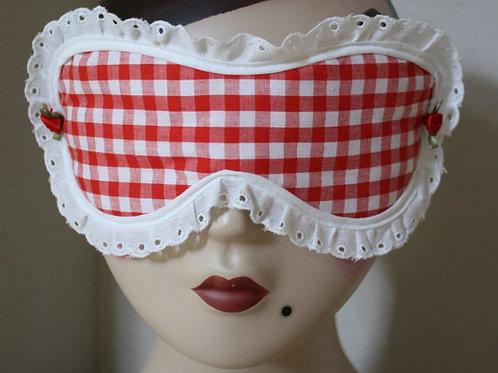 Sleep Mask Red Gingham