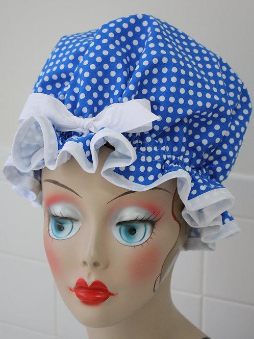 Dotie Blue Shower Cap