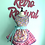 Thumbnail: Conversation Hearts Circle Skirt Retro Apron