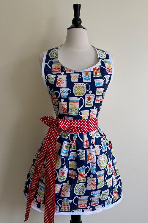 Pretty Pyrex Retro Apron Graphic