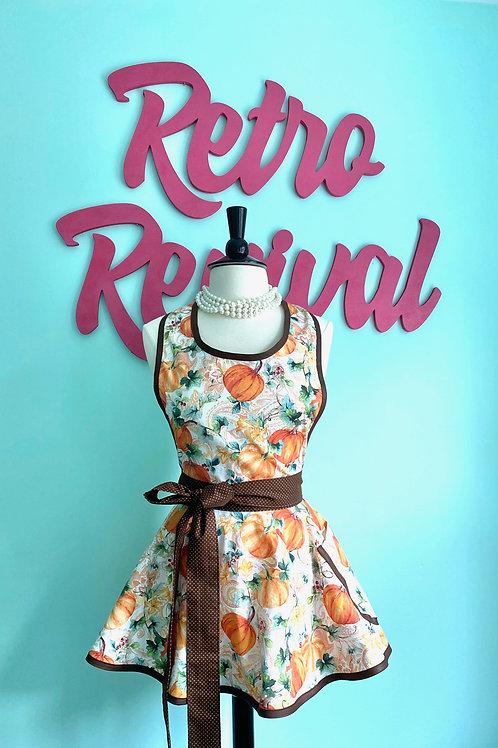 Heirloom Pumpkins Circle Skirt Retro Apron