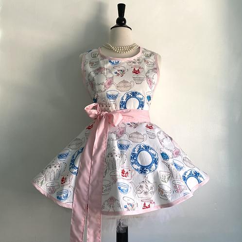 Elegant Tea #2 Retro Circle Skirt Apron