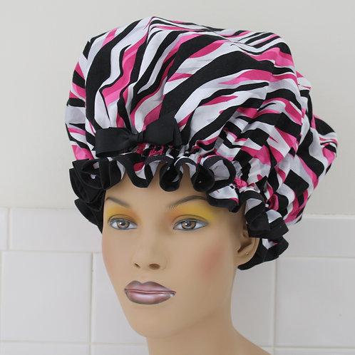 Pink & Black XL Sleep Bonnet