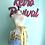 Thumbnail: Vintage Gold/Blue Floral Waist/Half Apron