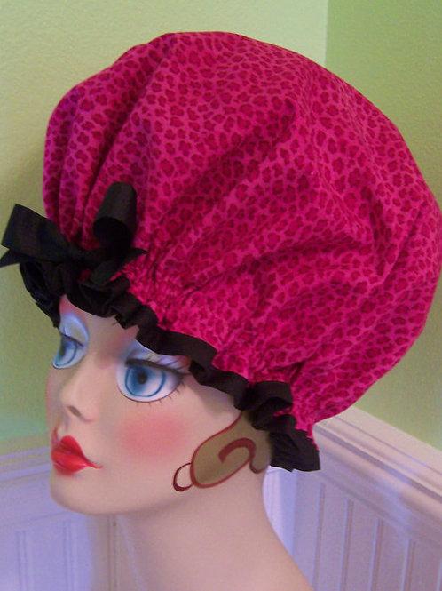 Animal Instinct Pink Sleep Bonnet