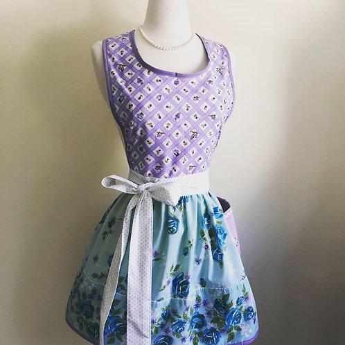 """""""Lavender & Blue"""" Vintage Pillowcase Apron"""