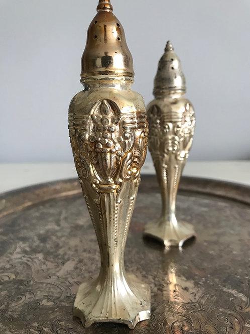 Vintage Silver Salt & Pepper Shakers