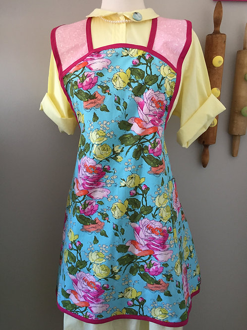 Retro Apron Bloom 1940's Style Apron