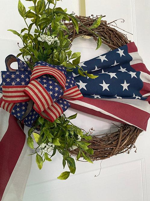 Patriotic 4th of July Americana Wreath