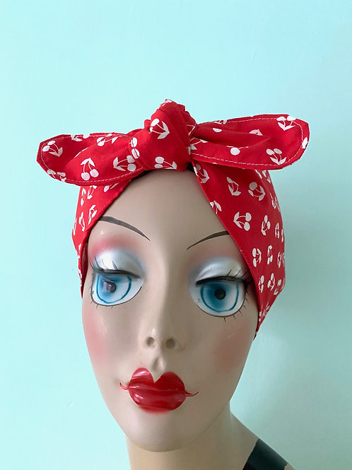 Cherries Waterproof Swim Head Wrap