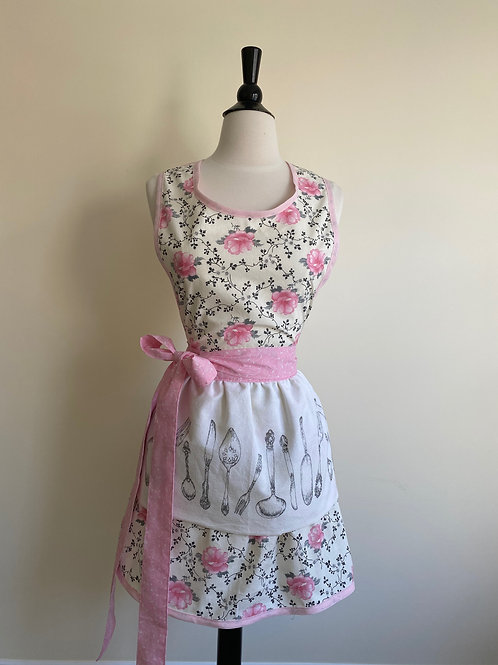 Prettiest Spring Floral Tea Towel Retro Apron