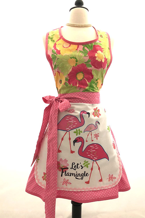 Let's Flamingle Dish Towel Retro Apron