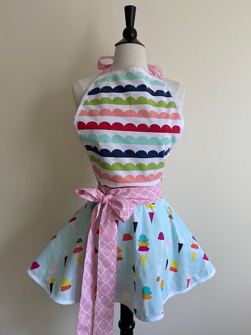 Ice Cream Circle Skirt Retro Apron