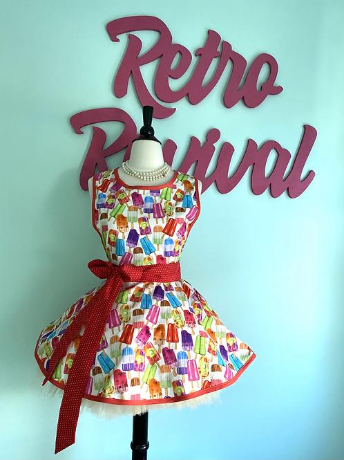 Popsicles Retro Circle Skirt Apron