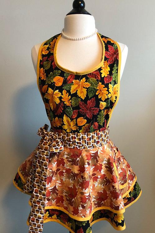 Lovely Autumn Double Circle Skirt Retro Apron