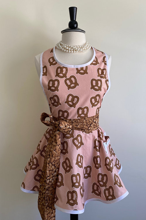 Pretzels and Peanuts Circle Skirt Retro Apron