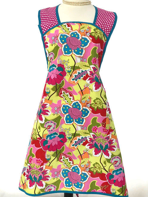 Whimsical Jacobean A-Line Retro Apron
