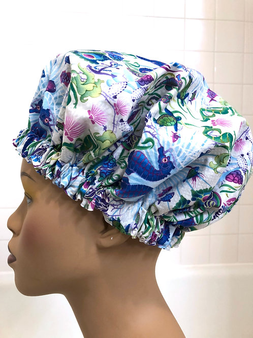 "Women's Modern Milly Shower Cap ""Under the Sea"""
