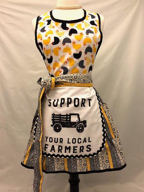 Local Farmers Dish Towel Retro Apron