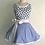 Thumbnail: Singing Blue Birds Circle Skirt Retro Apron
