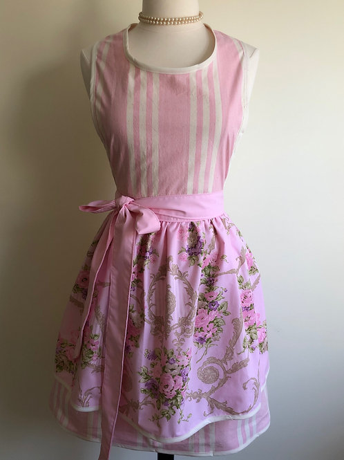 """Pink Princess"" Vintage Linen Apron"