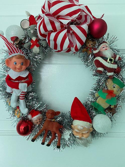 Vintage Kitsch Christmas Wreath #3