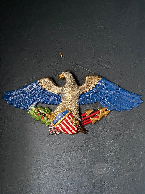 Vintage Americana Eagle Wall Art Display Plaque Indoor/Outdoor