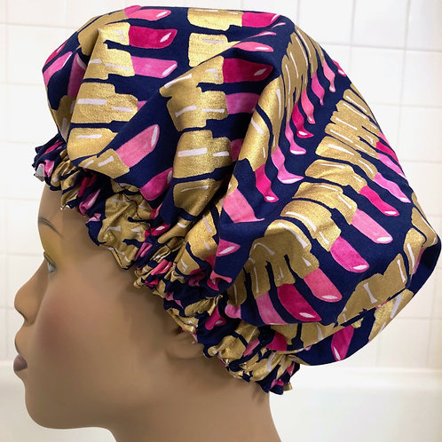 "Women's Modern Milly Shower Cap ""Metallic Lipstick"""