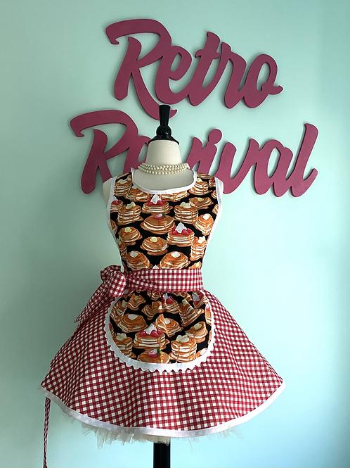 Pancakes & Gingham #2 Retro Circle Skirt Apron