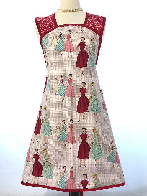 Retro Apron A-Line Vintage Fashion Red