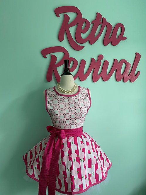 Pink Lemonade Retro Circle Skirt #2 Apron